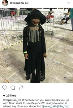 When your teacher hooks u up with floor seats to get in formation with Beyonce   Beyhive Battle: The Best Formation Fan Costumes