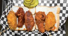 Bathed in a spicy buttermilk brine, Nashville hot chicken gets dredged in more spice still, double-fried, and finally slathered with a fiery, buttery paste. Spicy Recipes, Cooking Recipes, Easy Recipes, Summer Recipes, Copycat Recipes, Nashville Hot Chicken Recipe, Tomato Pie, Chicken Wing Recipes, Gourmet Chicken