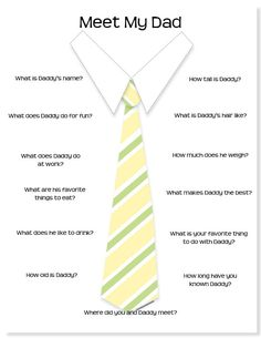 Father;s Day questions for little ones...so cute!