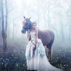 Beautiful Woman with Horse – Novosibirsk City, Russia – Julia Popova http://www.photobotos.com/