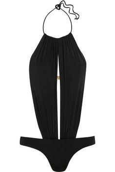 L'Agent by Agent Provocateur - Taniia Cutout Halterneck Swimsuit - Black - x small