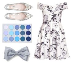 """Rose Grey + Blue and white Outfit"" by hentschelcorinna on Polyvore"