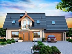 Casa de vis cu arhitectura moderna in suprafata de 115 mp – Case De Vis House Blueprints, My Dream Home, 1, Exterior, Outdoor Structures, House Design, Mansions, Architecture, House Styles