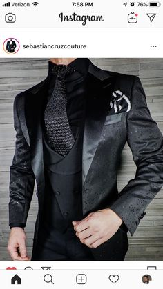 Showcasing our Jade Brillante Jacket. Perfect for any black tie event! Shine bright like a diamond 💎. Dress Suits For Men, Suit And Tie, Men Dress, Mens Fashion Suits, Mens Suits, Designer Suits For Men, Casual Outfits, Fashion Outfits, Mens Clothing Styles
