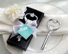 Key To My Heart Bottle Opener with Personalized Hang Tag from Wedding Favors Unlimited