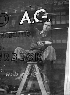 Alte Berufe - Fenstermaler