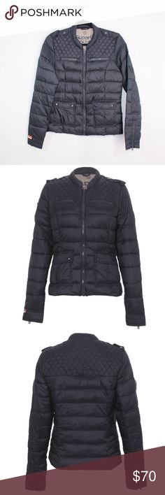 Superdry McQueen Night Zip Through Puffer Jacket Superdry Japan McQueen Night Zip Through Jacket  Jacket  Comes from a smoke-free household  The size is Small  Measurements are:  18 inches underarm to underarm 24 inches top to bottom 25.5 inches shoulder seam to cuff 29.5 inches neck seam to cuff  Black  Nylon  Check out my other items for sale in my store!  D11 Superdry Jackets & Coats Puffers