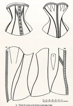 Pattern for corset