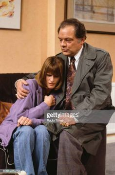 Actors Gwyneth Strong and David Jason in a scene from episode 'Rodney Come Home' of the BBC Television sitcom 'Only Fools and Horses', November Get premium, high resolution news photos at Getty Images David Jason, Only Fools And Horses, British Comedy, Comedy Tv, The Fool, Drama, Scene, Strong, Actors