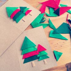 Making Felt Christmas Cards