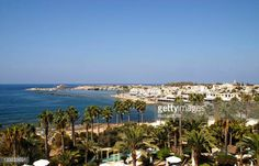 04-20 With palm trees in the foreground a view across the town... #paphos: 04-20 With palm trees in the foreground a view across… #paphos