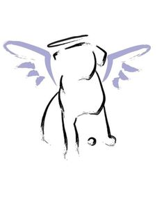 Dog Angel  or Sympathy card by rottweilergiftshop on Etsy, $2.50