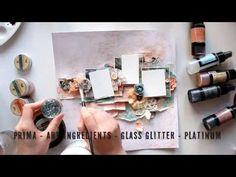 Libro de recuerdos página Video Tutorial de Elena Morgun | Sello de la cuadrilla de Lindy