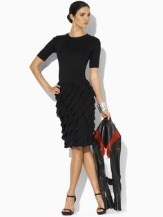 love the dress, shoes, and bracelet.  Ditch the jacket.