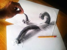 Drawing Design drawings More - Drawings is an amazing form of art, where the pencil drawings seem to literally jump off the page. Most artists use graphite pencils for creating the look. Easy drawings are usually small 3d Pencil Art, 3d Pencil Sketches, 3d Sketch, Small Drawings, 3d Drawings, 3d Illusion Drawing, Illusion Art, Easy 3d Drawing, Optical Illusions Drawings