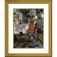 Global Gallery 'Le Cafe Concert Des Ambassadeurs' by Edgar Degas Framed Painting Print Size: