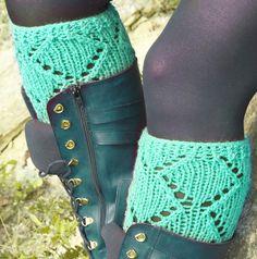 Short Knit Boot Cuffs Short Leg Warmers. Knitted by EmofoFashion, $22.00