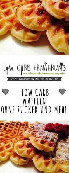 Low Carb recipe for super delicious waffles without flour and without sugar and with whom .- Low Carb Rezept für super leckere Waffeln ohne Mehl und ohne Zucker und mit wen… Low Carb recipe for super tasty waffles without flour and … - Low Carb Desserts, Low Carb Recipes, Diet Recipes, Healthy Recipes, Quick Recipes, Crowd Recipes, Protein Recipes, Quick Snacks, Diet Meals
