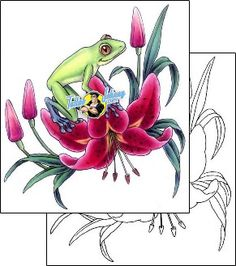 Frog Tattoo reptiles-and-amphibians-frog-tattoos-gail-somers-gsf-00503