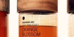 Student Spotlight: Savannah Bee Company Honey Bottles - The Dieline - Honey Packaging, Coffee Packaging, Savannah Bee Company, Savannah Chat, Honey Bottles, Honey Jars, Vegan Yogurt, Creativity And Innovation, Raw Honey