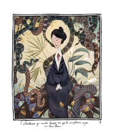 """Mary Poppins, encargo para el Circulo de Lectores.   Mary Poppins, a commission for """"Circulo de Lectore..."""