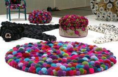 Idées créations et tutos pompons en laine