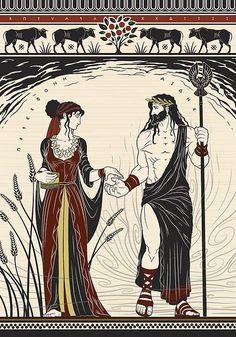 Hades and Persephone by Matthew Kocvara