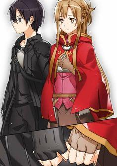 Kirito x Asuna Sword art online Sword Art Online Asuna, Kirito Sword, Kirito Asuna, Anime Couples Manga, Cute Anime Couples, Anime Girls, Online Anime, Online Art, Fanarts Anime