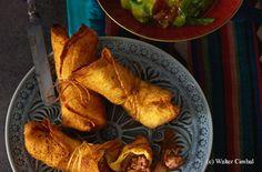 Chimichangas mit scharfem Faschiertem Guacamole, Tex Mex, French Toast, Chicken, Meat, Breakfast, Food, Easy Meals, Food Food
