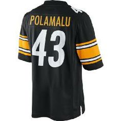 Activewear Tops Contemplative Reebok Pittsburgh Steelers Troy Polamalu Football Jersey Mens Medium Excellent