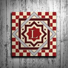 Made in the USA! Free Shipping! Our barn quilts feature multiple sizes, and multiple color schemes to choose from. Use the form above to send us what letter(s) you want for your board. Materials: Our