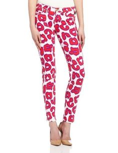 Vivienne Westwood for Lee Women's Skinny Jean, Red Leopard