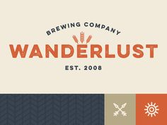 Wanderlust Brewing Co. by Ronnie Johnson | Design | Typography | Branding
