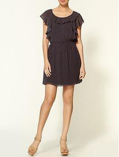 $49.00   Ya Los Angeles Dots Ruffle Dress | Piperlime
