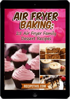 """Read """"Air Fryer Baking: 25 Air Fryer Family Dessert Recipes"""" by Recipe This available from Rakuten Kobo. Air Fryer Baking: 25 Air Fryer Family Dessert Recipes The authors of this Air Fryer Baking ebook have owned their Air Fr. Power Air Fryer Recipes, Air Fryer Oven Recipes, Air Fryer Cake Recipes, Power Airfryer Xl Recipes, Weight Watcher Desserts, Air Fryer Doughnut Recipe, Mini Desserts, Nuwave Air Fryer, Baking Recipes"""
