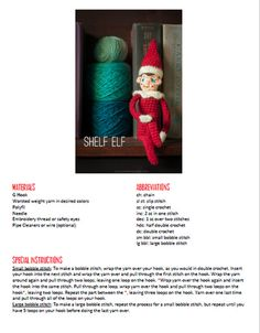 How to make an elf plushie. Shelf Elf - Step 1