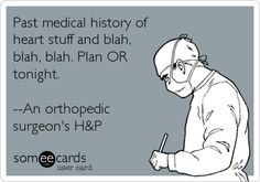 """hahaha the doc I'm with now said ortho docs would tell the joke """"What do you do if someone is having an MI? Call a doctor!"""" And think it was hilarious. Medical Memes, Medical Careers, Medical Coding, Nursing Memes, Medical History, Healthcare Memes, Medical Transcription, Funny Nursing, Anesthesia Humor"""