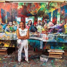 NEW SERIES - The Masterpiece Connection #thelastsupper #leonardodavinci #voka #artvoka #spontaneousrealism #art #painting #austria #acryl Voka Art, Funny Iphone Wallpaper, Last Supper, Drawing Artist, The Masterpiece, Acrylic Colors, Surreal Art, Art Images, Original Artwork