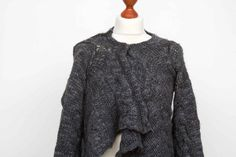 Wherever you go, whoever you need, we all seek joy. Let the joy begin. Armpit to Armpit / 52 cm. Shrug Cardigan, Cashmere Cardigan, Loose Sweater, Cropped Sweater, Laura Ashley Cardigan, Sarah Pacini, Jumpers For Women, Black Sweaters, Plus Size Women