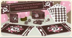 Skullicious™ - Baby Girl Skull - Baby Shower Theme  *I'm putting this on here for a laugh, I  can't believe this is an option.