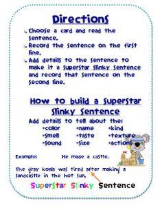 adding details super sentences