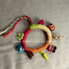 Needle felted charms bracelet Bon Voyage by FunFeltByWinnie
