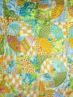 Circle Quilt -- Freeform Quilting by Julie Antinucci, via Flickr