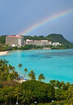 Tumon Bay, Guam,,, Been there--- done that--- Loved it--- Got married there in the Hilton, overlooking Tumon