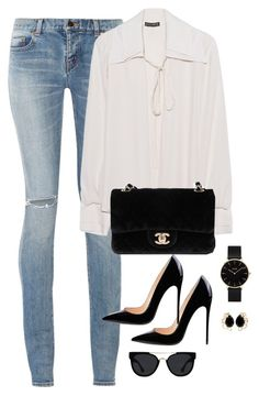 Casual beauty featuring Yves Saint Laurent, Plein Sud, Chanel, CLUSE, Quay and Bounkit Business Casual Outfits, Classy Outfits, Chic Outfits, Summer Outfits, Fashion Outfits, Womens Fashion, Fashion Trends, Outfit Chic, Outfit Jeans