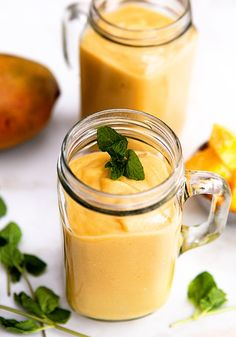 Mango White Bean Smoothie - Good flavor idea, use less mango, no rice milk, add some more nutrients.
