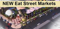 The Eat Street Markets in Hamilton is getting a new location and a face-lift with a view to building in families fun and attracting more visitors. Brisbane, Hamilton, Families, Magazine, Marketing, Street, Eat, Building, Buildings