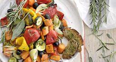 Ofengemüse-Salat mit Crostini