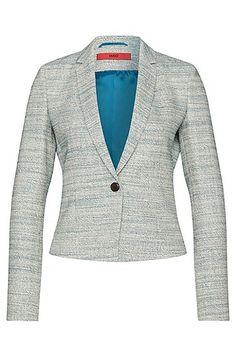 Bouclé-style blazer in cotton blend with elastane: 'Adiasa'