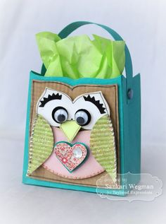 Sack it To You Owl by Sankari Wegman #GiftGiving, #ValentinesLove, #SackIttoYou